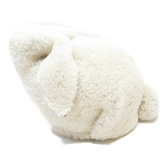 LOEWE 羅威 白色翻羊毛拼咖啡色牛皮兔子包 Bunny Mini Shoulder Bag【BRAND OFF】