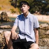 布衣傳說夏季薄款純棉牛津紡短袖白襯衫男士韓版潮流帥氣寸襯衣服 花樣年華