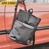 uiyi雙肩包男潮牌背包男士女時尚潮流拼接通勤學生書包簡約旅行包