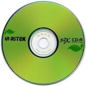 ◆促銷品+免運費◆錸德 Ritek 空白光碟片 綠葉子 CD-R 700MB 52X 光碟空白片(50片裸裝X2 ) 100P= 省錢包!!