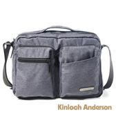 金安德森 Force極簡造型雙口帶側背包 藍色