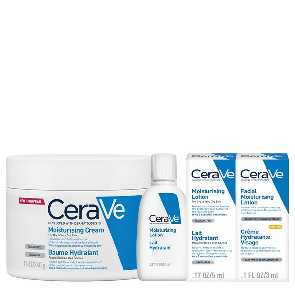 CeraVe適樂膚 長效潤澤修護霜340g 長效保濕組