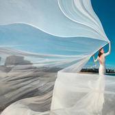 10米新娘頭紗薄飄細紗影樓婚紗攝影拍照海灘外景道具婚照頭紗 伊衫風尚