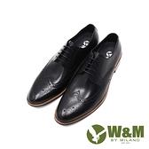 W&M(男)經典木跟質感壓紋紳士正裝皮鞋 男鞋-黑(另有咖)