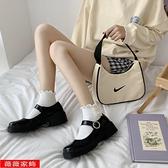 娃娃鞋 2021秋季新款日系jk圓頭小皮鞋中跟復古一字扣粗跟單鞋女瑪麗珍鞋 薇薇