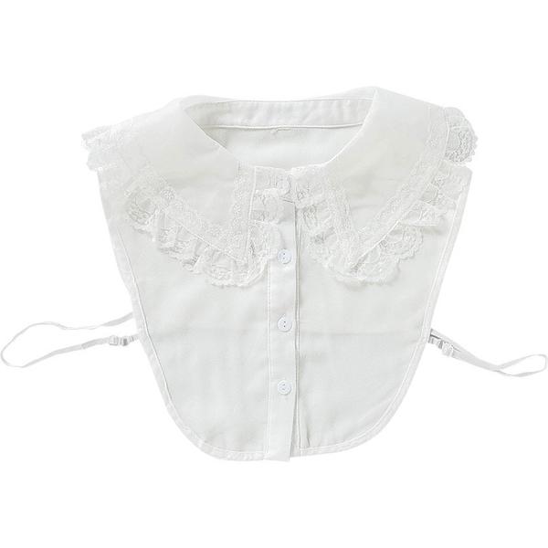假領子 雪紡紗上衣誇張尖領氣質浪漫蕾絲領子尖領韓版針織衫洋裝滿額送愛康衛生棉[E30811] 預購