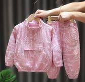 童裝女年秋裝純棉洋氣休閒韓版兒童運動套裝兩件女童秋裝新款 【快速出貨】