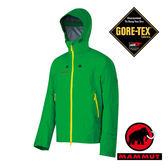 【MAMMUT 長毛象】Lanin 男 超輕Gore-Tex單件式連帽防水外套 綠 1010-12160