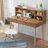 兒童書桌 北歐書桌書架組合家用電腦台式桌簡易學生臥室桌子兒童學習寫字桌T 4色