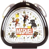 〔小禮堂〕漫威英雄Marvel 三角型鬧鐘《黑.Q版》桌鐘.時鐘 4548626-11258