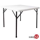 邏爵LOGIS- 生活88CM方桌防水塑鋼折合桌/拜拜桌/露營桌/戶外桌AK-88