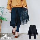 女童褲裙 甜美假兩件式網紗褲裙 韓國外貿...