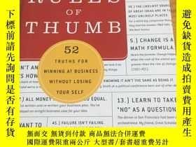 二手書博民逛書店英文原版罕見精裝 Rules of Thumb: 52 Trut