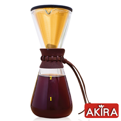 《AKIRA》不鏽鋼濾網手沖咖啡組 DPG-1S-TI