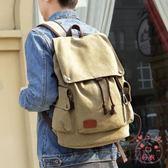 (低價促銷)後背包正韓男士背包休閒後背包男時尚潮流帆布男包旅行包電腦包學生書包