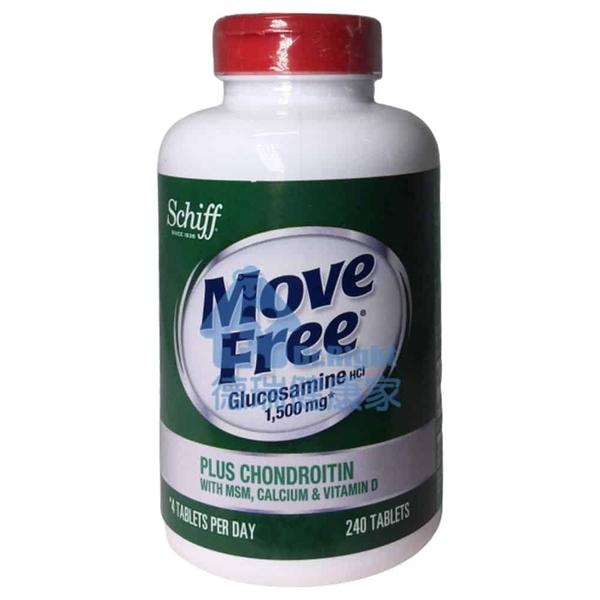 Move Free 葡萄糖胺+軟骨素+MSM+維生素D+鈣錠 240錠◆德瑞健康家◆