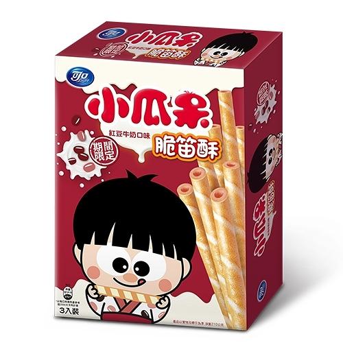 小瓜呆脆笛酥-紅豆牛奶口味210g【愛買】