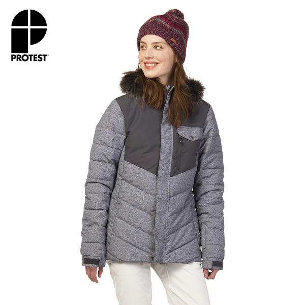 PROTEST 女 機能防水保暖外套 (真實黑) ESTER SNOWJACKET