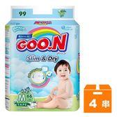 大王GOO.N 黏貼型紙尿褲-國際版大包裝 M (66片)x4串/箱