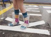 全館超增點大放送ins爆款雨鞋女童兒童超美全透明環保雨靴雨鞋寶寶幼兒園小孩水鞋