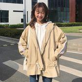 春裝女裝韓版復古工裝BF風寬松休閑風衣學生中長款長袖開衫外套潮