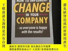二手書博民逛書店HOW罕見TO IMPLEMENT CHANGE INYOUR COMPANYY12348 JOHN SPEN
