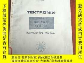 二手書博民逛書店TEKTRONIX罕見INSTRUCTION MANUAL(P3014A)Y173412