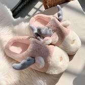 棉拖鞋女冬可愛卡通保暖毛毛絨拖鞋月子居家用室內宿舍ins