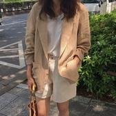 外套西裝短上衣韓版chic復古小西裝外套寬鬆英倫風亞麻西服女N705-2079.胖胖唯依二店