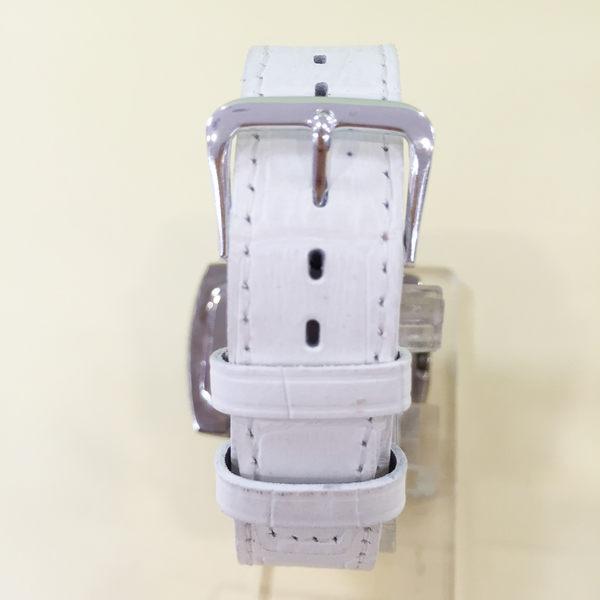 【震撼精品百貨】Hello Kitty 凱蒂貓~手錶-長方形錶面-KITTY大頭圖案-皮製錶帶-白色