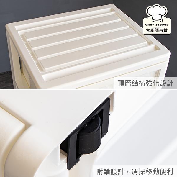 聯府白橡木五層櫃附輪100L抽屜櫃收納櫃WLK50-大廚師百貨