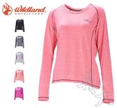 丹大戶外【Wildand】荒野 女圓領雙色抗UV長袖上衣 0A71613 六色可選
