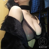 性感蕾絲全透明文胸套裝歐美超薄款透視誘惑舒適內衣【貼身日記】