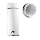 SMF雙層真空骨瓷保溫杯 350ml (鮮乳白) 蘑菇款 #B2335