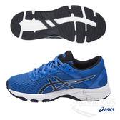 亞瑟士 ASICS 兒童慢跑鞋 (藍) GT-1000 6 GS 舒適性的入門跑鞋 C740N-4358【 胖媛的店 】