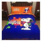 蠟筆小新床包 粉紅豬 多啦A夢純棉加厚磨毛四件套 史努比床包 1.5m床被套 標準雙人款【藍星居家】