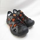 LOTTO 排水護趾涼鞋 拖涼鞋 LT1AMS3158 男款 深灰橘 整數碼【iSport愛運動】