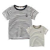 刺繡帆船條紋短袖上衣 童裝 短袖 T-shirt T桖 條紋上衣