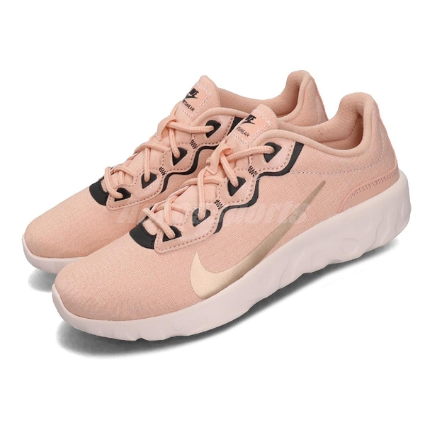 Nike 慢跑鞋 Wmns Explore Strada WNTR 粉紅 黑 避震中底 女鞋 運動鞋【ACS】 CQ7624-600