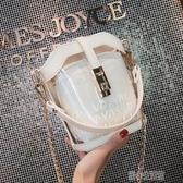 果凍包 水桶高級感法國小眾包包女2019透明洋氣果凍時尚潮斜挎包 暖心生活館