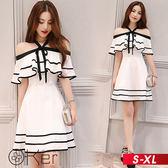 華麗宴會風雪紡連衣裙 S-XL O-ker歐珂兒 162602