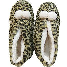 【波克貓哈日網】Hello kitty 凱蒂貓 ◇保暖居家室內拖鞋◇ 《包鞋豹紋》日本 Sanrio 正式授權