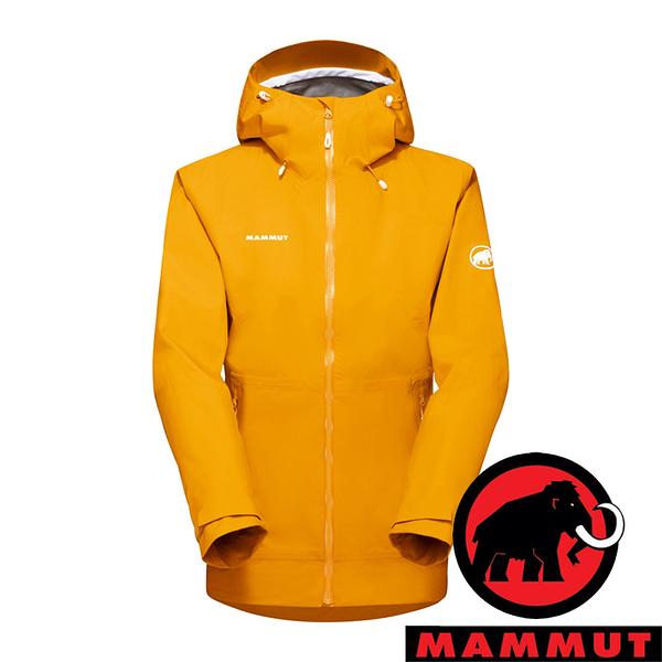 【MAMMUT 長毛象】Convey女GT單件式連帽外套『金黃』1010-28800 登山 外套 羽絨 保暖 禦寒