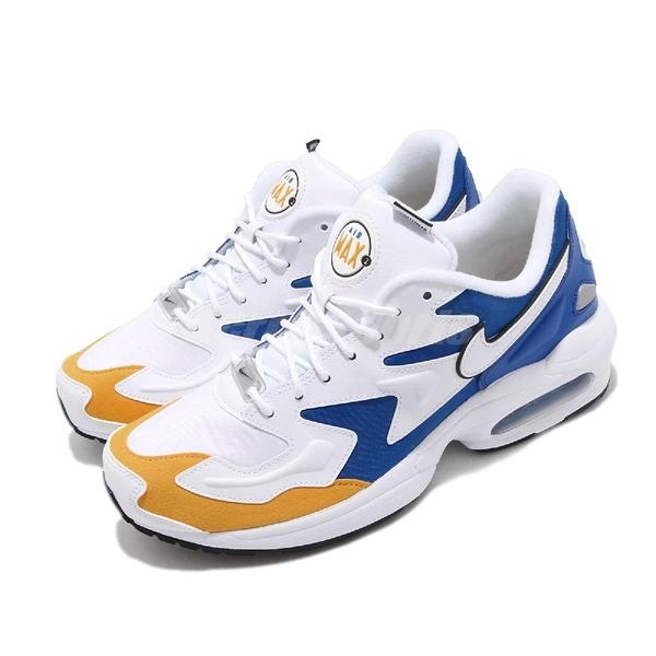 Nike 休閒鞋 Air Max2 Light Premium 白 藍 黃 氣墊 男鞋 【ACS】 BV0987-102