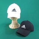 【iSport愛運動】ADIDAS 經典LOGO棒球帽 鴨舌帽 BK0794白/S98159黑 後扣可調