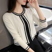 季薄款短款針織衫開衫女長袖春夏裝新款韓版修身外搭披肩小外套『韓女王』