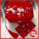 中式婚禮嫁妝匣雙層梅花刺繡鎖首飾盒女友閨蜜新婚結婚生日禮物品 果果輕時尚