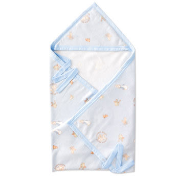◎babyroom嬰兒房◎比得兔棉柔帽帶毯(85x100公分)(籃 / 粉)