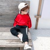 男童秋裝帽T洋氣2019新款寶寶長袖套頭衫小童兒童春秋上衣韓版潮