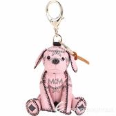 MCM Zoo Dog 品牌印花小狗造型鑰匙圈/吊飾(粉色) 1840723-05